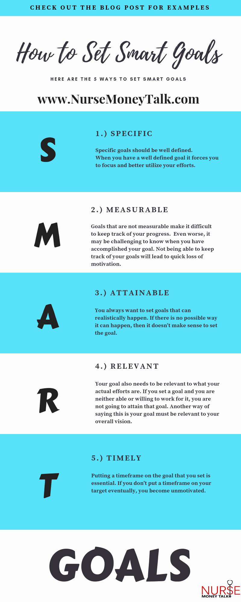 Professional Smart Goal Examples Elegant 5 Practical Tips for How to Set Smart Goals — Nurse Money Talk