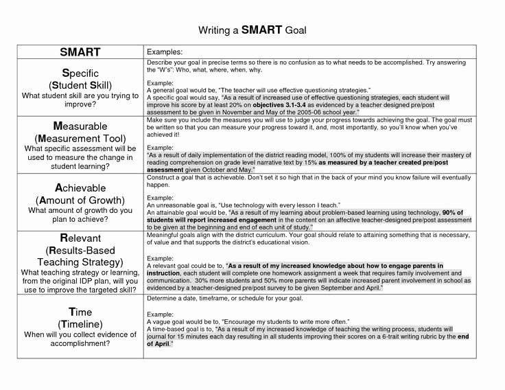 Professional Smart Goal Examples Elegant Smart Goal Google Search Professional