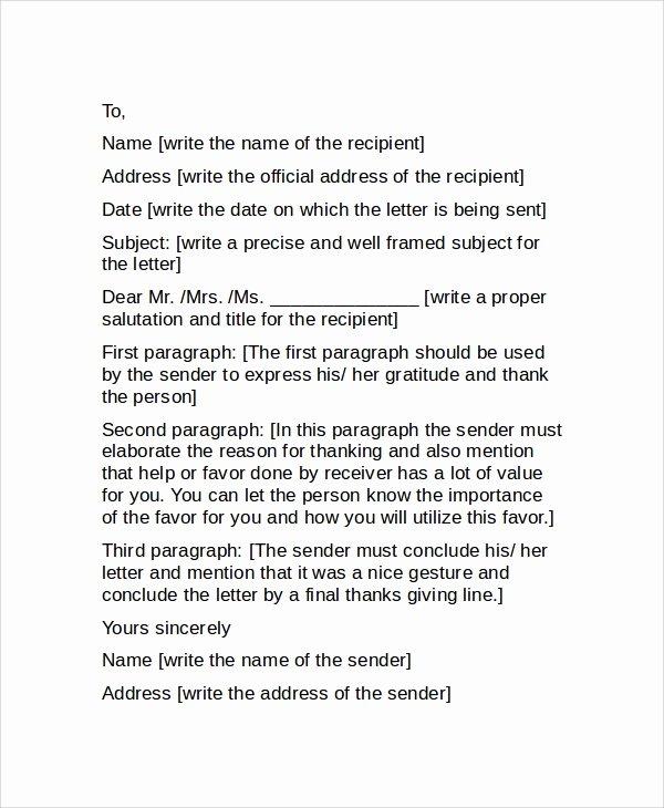 Professional Thank You Letters Elegant Sample Professional Thank You Letter 7 Examples In Word