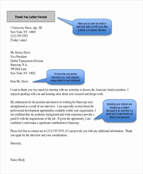 Professional Thank You Letters Elegant Sample Thank You Letter format 8 Examples In Word Pdf