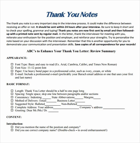 Professional Thank You Letters New Sample Professional Thank You Notes 7 Documents In Pdf