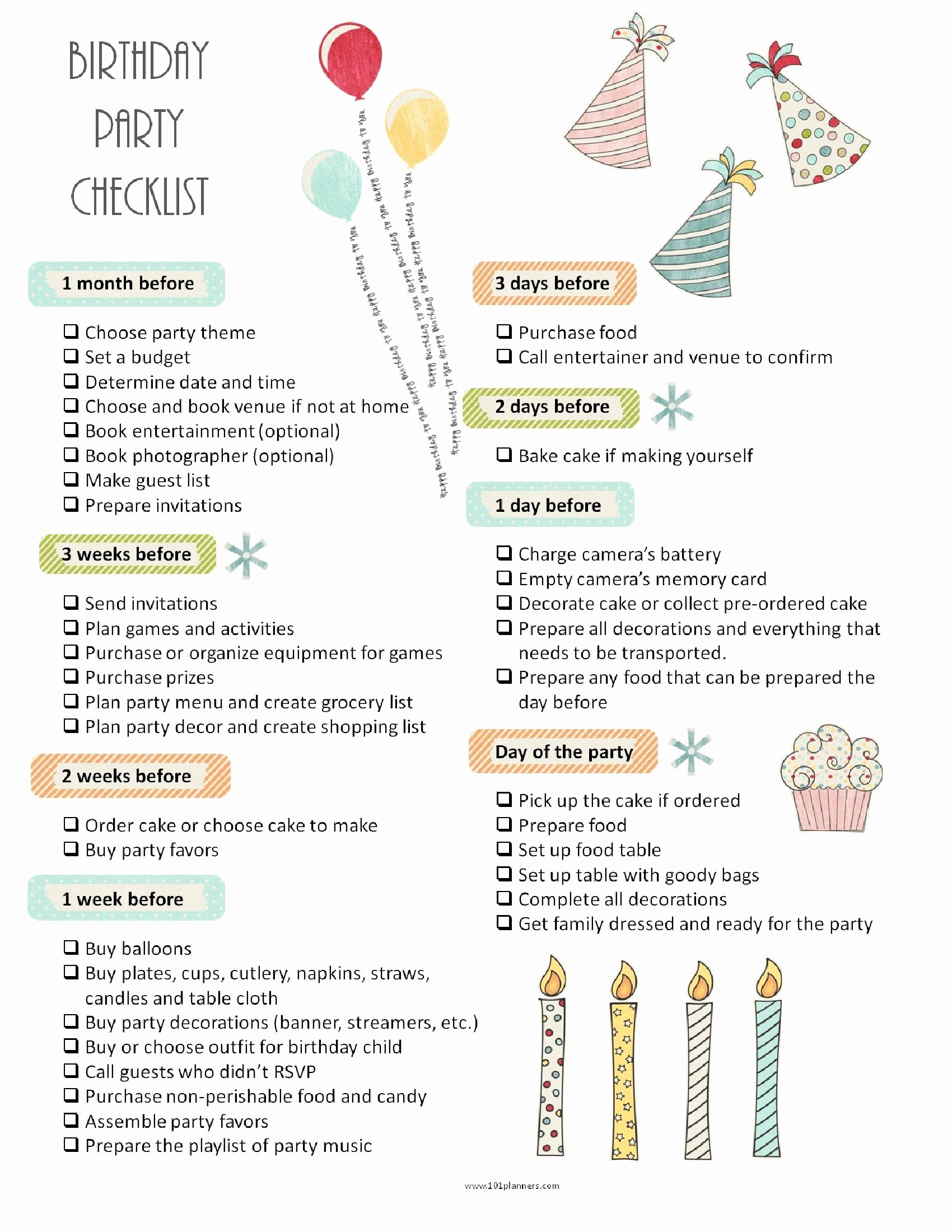 Program for 70th Birthday Party Awesome Party Planning Template