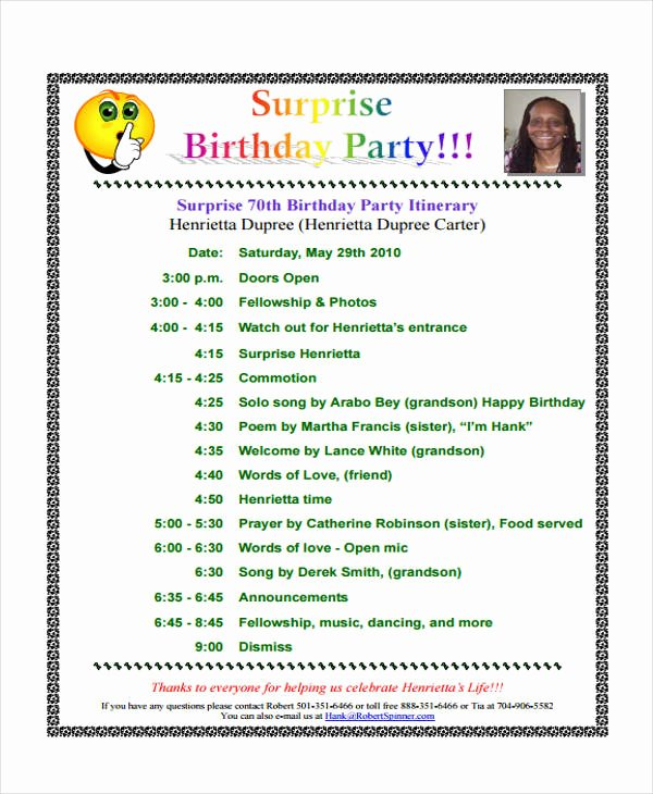 Program for 70th Birthday Party Luxury 70th Birthday Party Program Template Impremedia