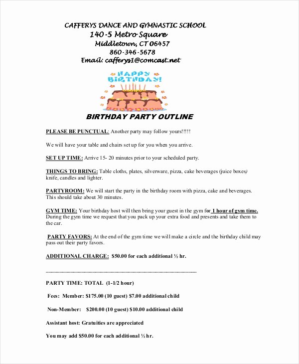 Program for 70th Birthday Party New Free 8 Program Outline Examples & Samples In Pdf