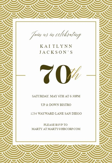 Program for 70th Birthday Party Unique 70th Birthday Invitation Templates Free