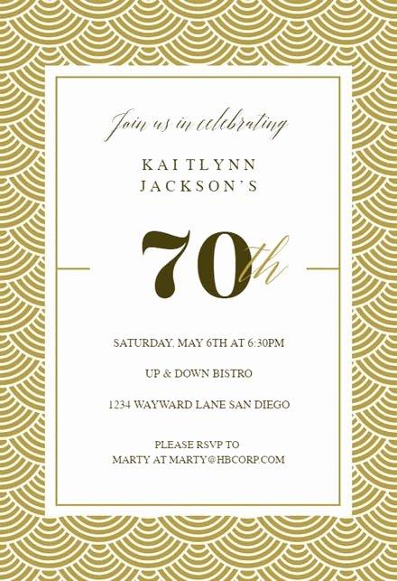 Program for 70th Birthday Party Unique 70th Birthday Invitation Templates Free