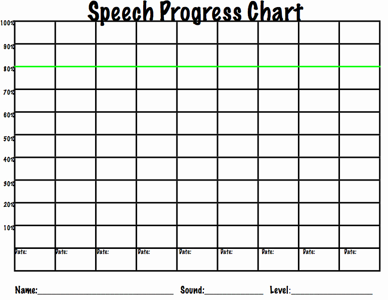 Progress Monitoring Charts Printable Fresh Data Collection Options for Speech therapy