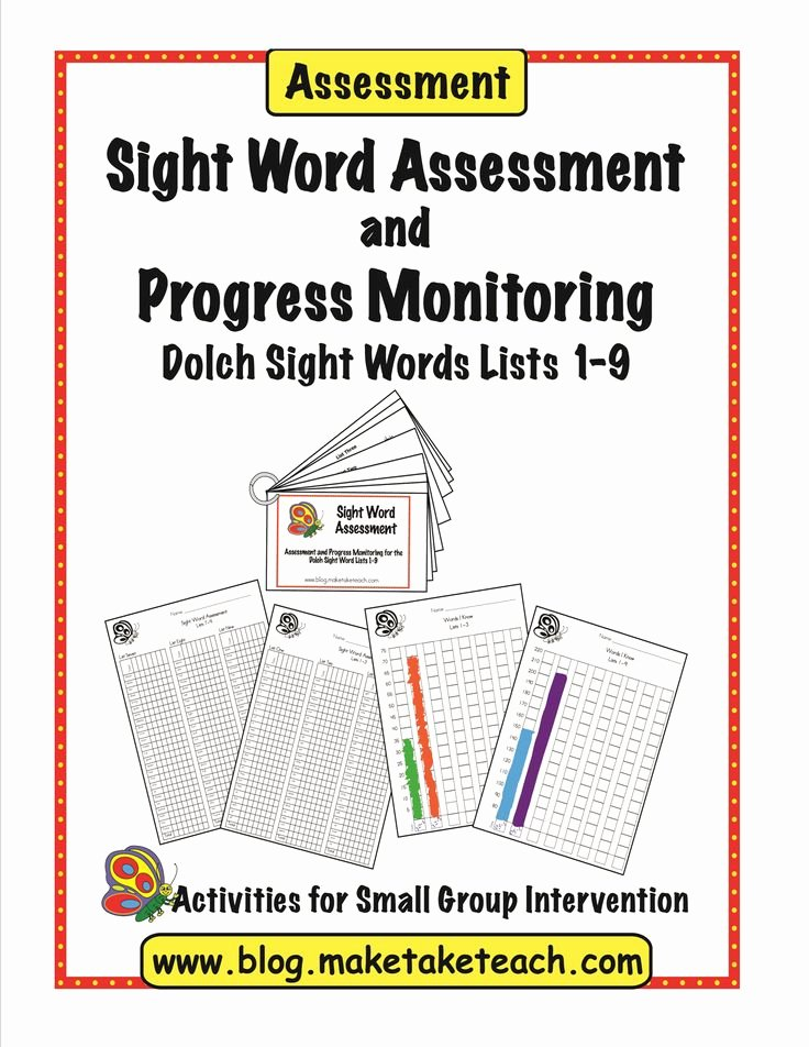 Progress Monitoring Charts Printable Luxury 77 Best Images About Sight Words On Pinterest