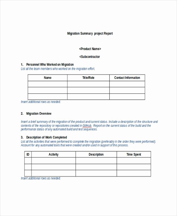 Project Executive Summary Template Word Elegant 8 Project Summary Templates Free Word Pdf Document