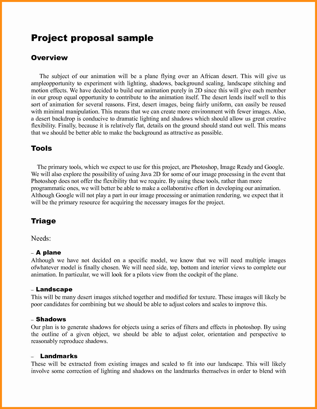 Project Proposal Outline Template Best Of Simple Project Proposal Example