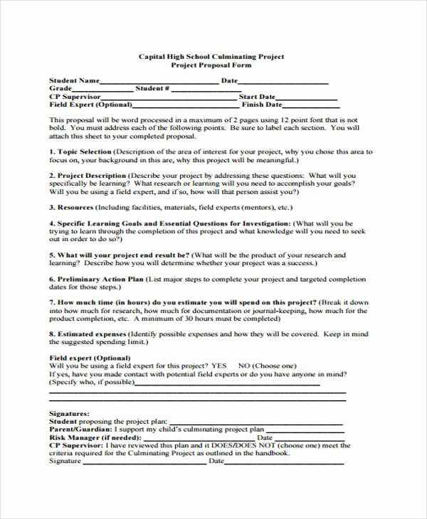 Project Proposal Outline Template Elegant 17 School Project Proposal Templates Free Word Pdf