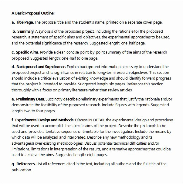 Project Proposal Outline Template Inspirational Free 22 Sample Project Proposal Templates In Google Docs