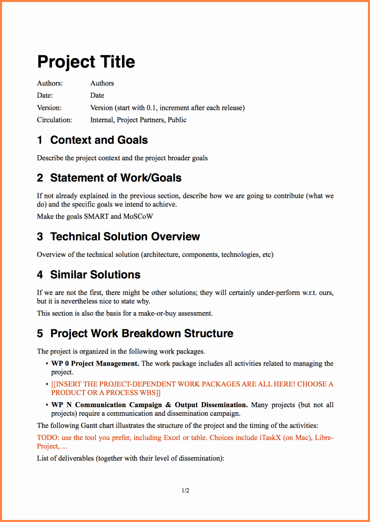 Project Proposal Outline Template Unique 8 software Project Proposal Template