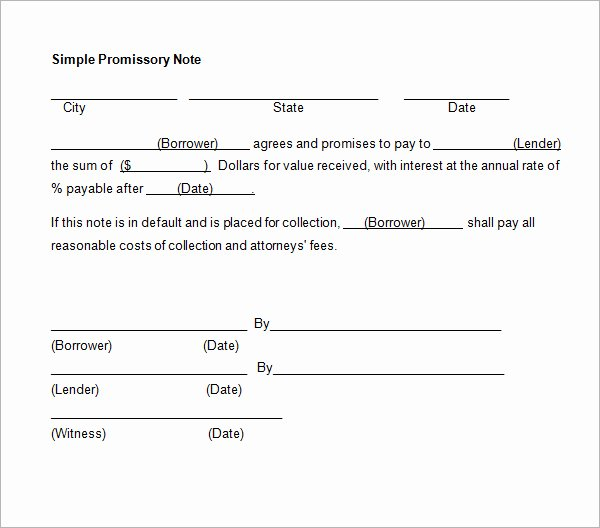 Promissory Note Payoff Letter Awesome Promissory Note form