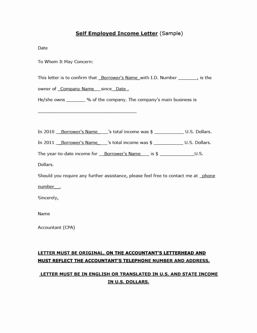 Proof No Income Letter Sample Elegant Sample Letter Business Closure to Baran Certification
