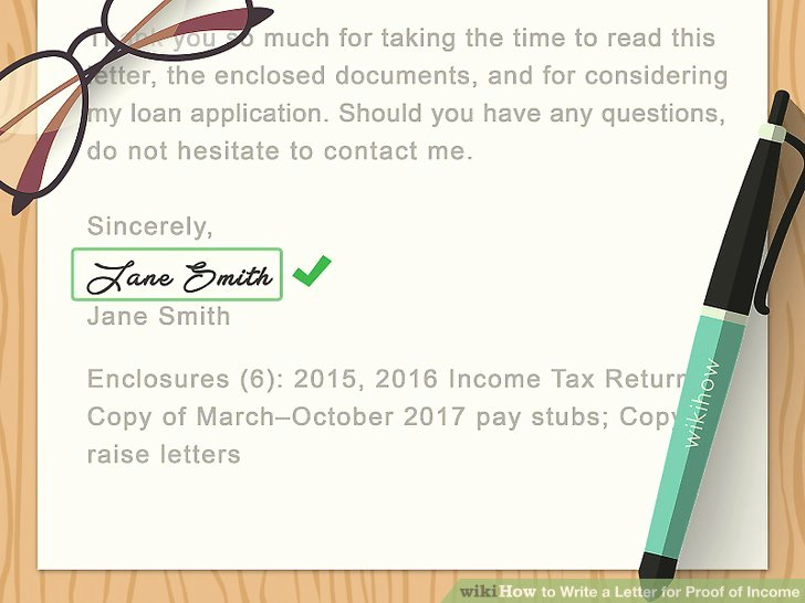 Proof No Income Letter Sample Inspirational How to Write A Letter for Proof Of In E with Sample