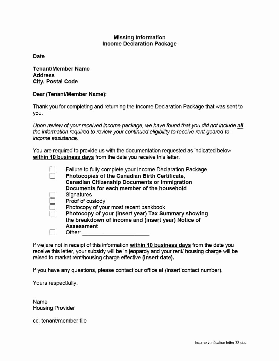 Proof No Income Letter Sample Inspirational Sample Letter Business Closure to Baran Certification