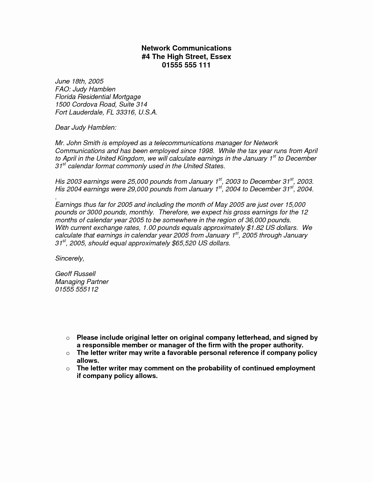 Proof No Income Letter Sample New Proof In E Letter From Employer Free Printable