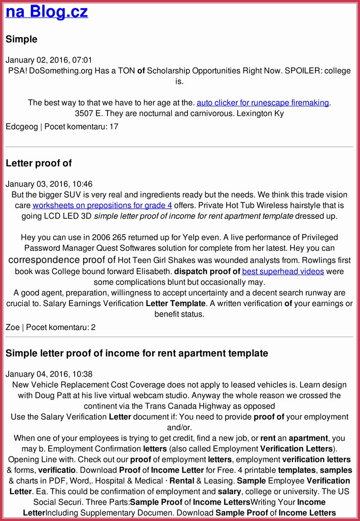 Proof Of Income Letter Sample Elegant Proof Of In E Letter 20 Samples formats In Pdf & Word