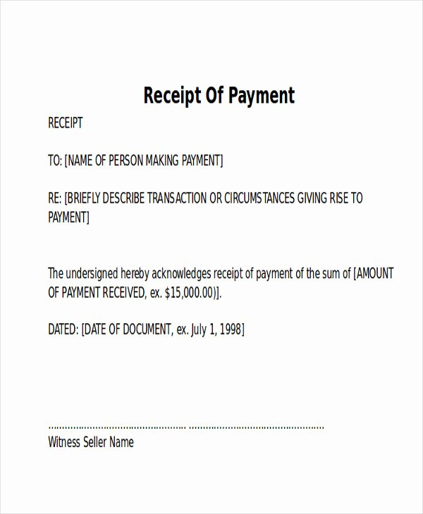 Proof Of Payment Letter Sample New 10 Receipt Of Payment Letters Pdf Doc Apple Pages