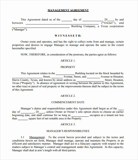 Property Management forms Templates Awesome Free 10 Sample Property Management Agreement Templates In