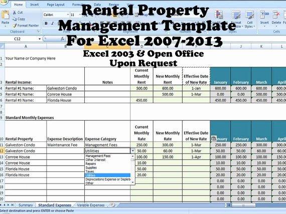 Property Management forms Templates Unique Rental Property Management Template Long Term Rentals Rental