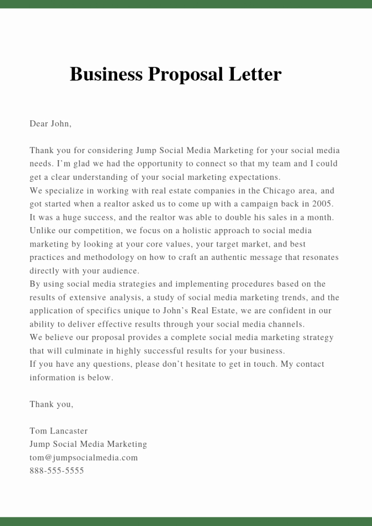 Proposal Cover Letter Template Elegant Sample Proposal Letter Template for Business Pdf Doc