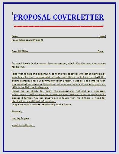 Proposal Cover Letter Template Luxury Proposal Templates