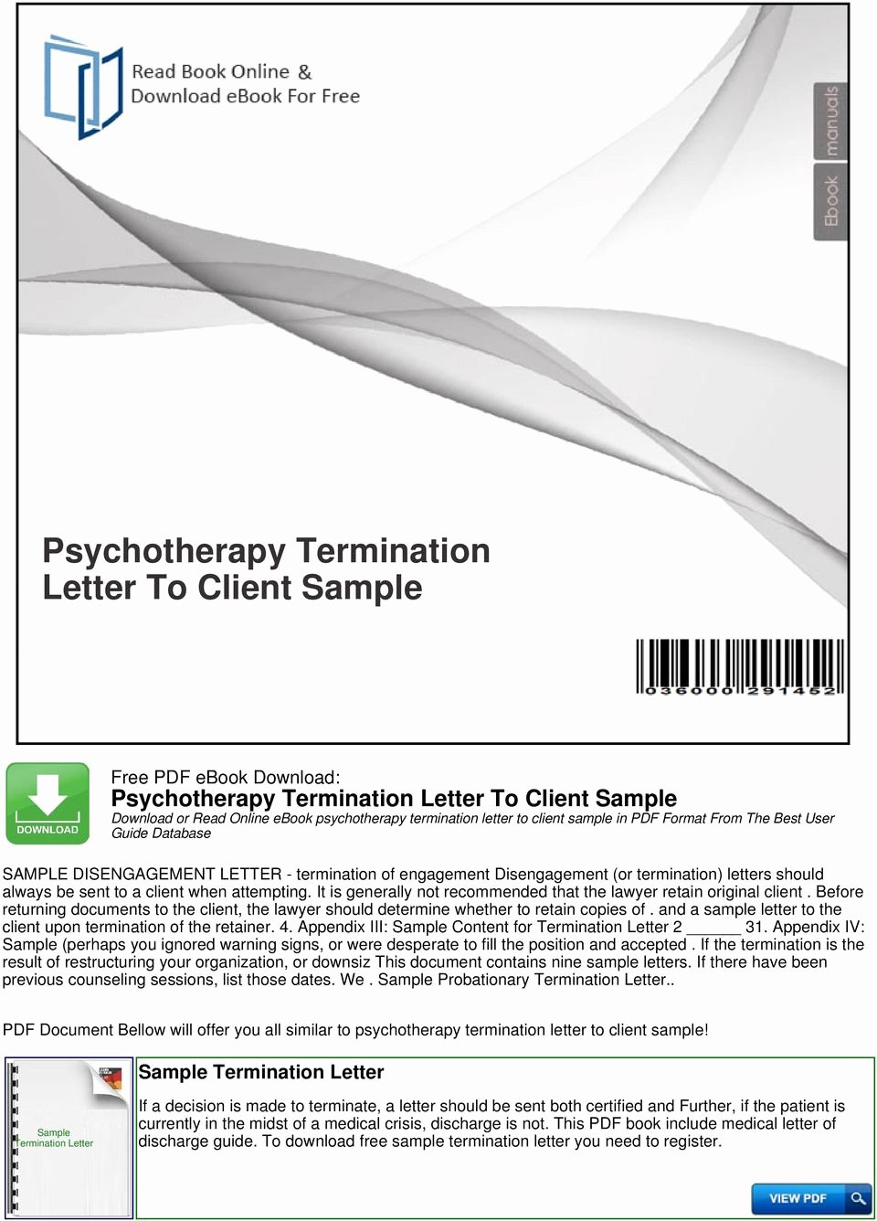 Psychotherapy Termination Letter Sample Best Of Psychotherapy Termination Letter to Client Sample Pdf