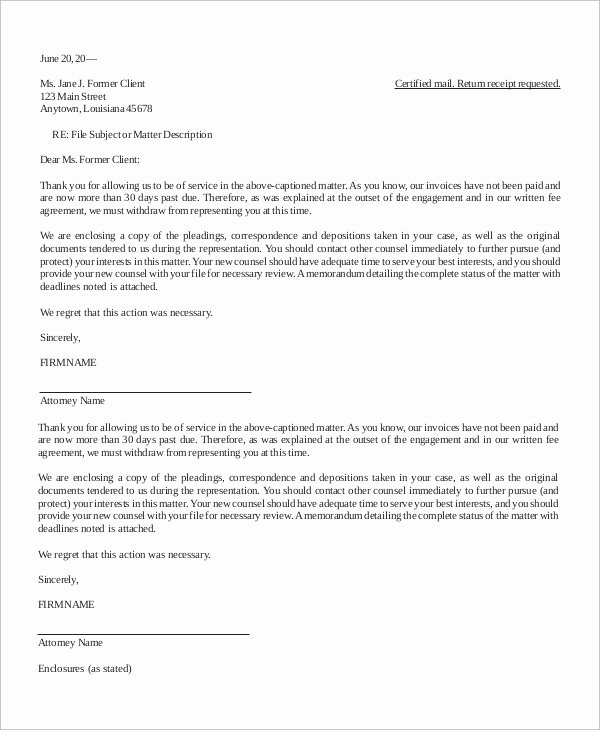 Psychotherapy Termination Letter Sample Elegant Letter Of Termination Sample 10 Examples In Word Pdf