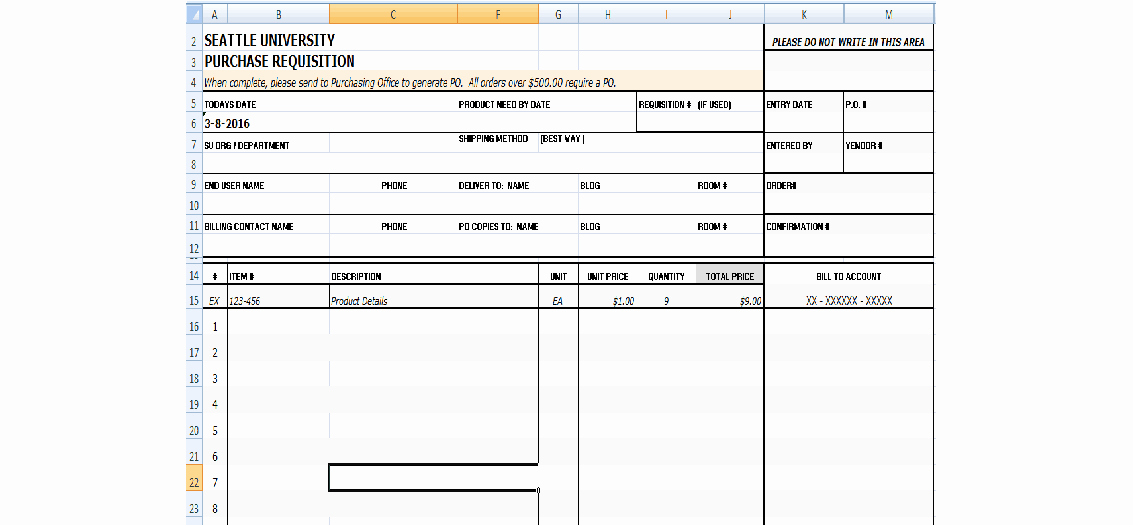 Purchase Requisition forms Template Awesome 4 Requisition form Templates Excel Xlts
