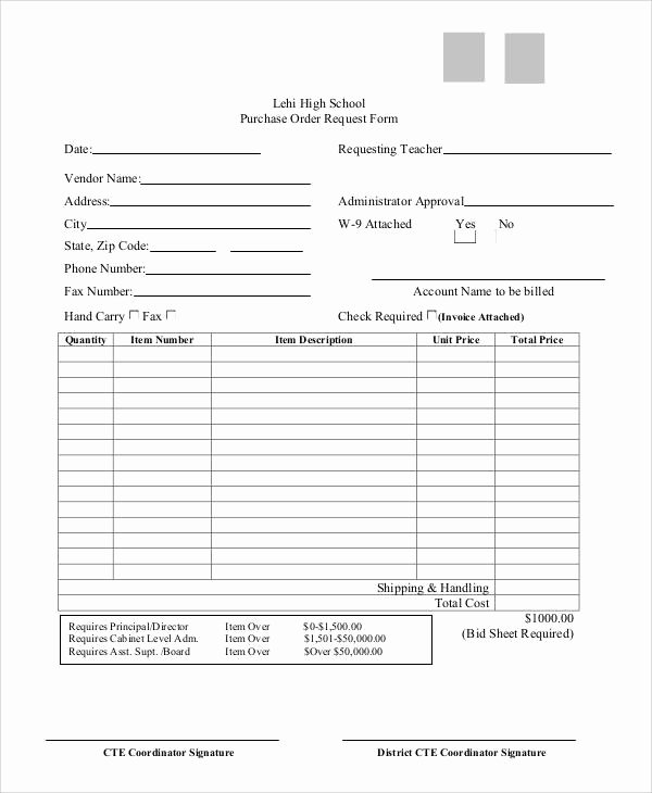 Purchase Requisition forms Template Fresh Sample Purchase order Request form 8 Examples In Word Pdf