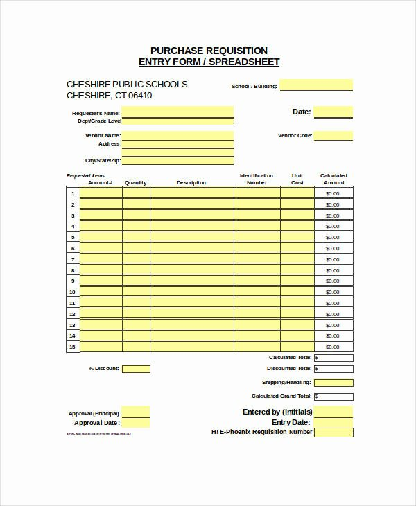 Purchase Requisition forms Template Inspirational 22 Requisition forms In Excel