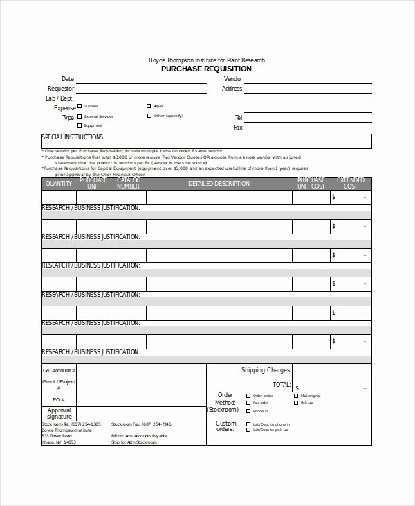 Purchase Requisition forms Template Lovely Excel form Template 6 Free Excel Document Downloads