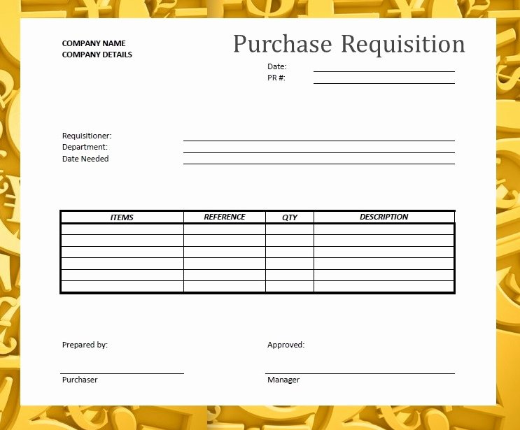 Purchase Requisition forms Template New forms & Documents Needed for Proper Accounting