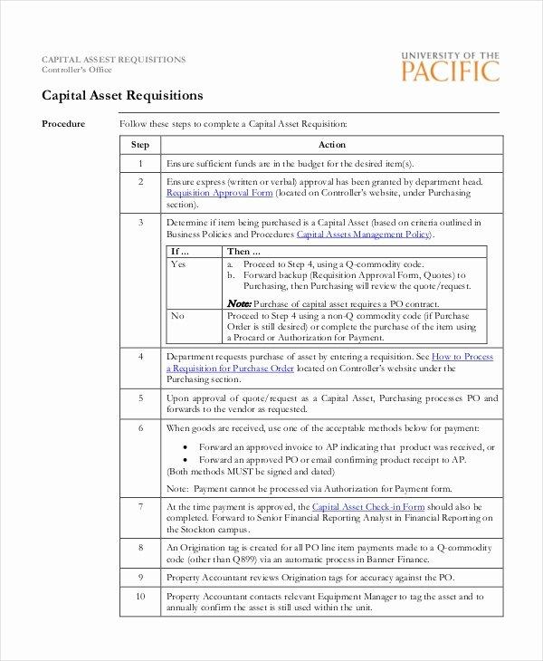 Purchasing Requisition form Templates Unique Sample Purchase Requisition forms 8 Free Documents In