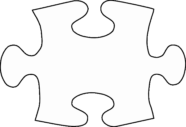 Puzzle Piece Cut Outs Awesome Jigsaw White Puzzle Piece No Shadow Clip Art at Clker