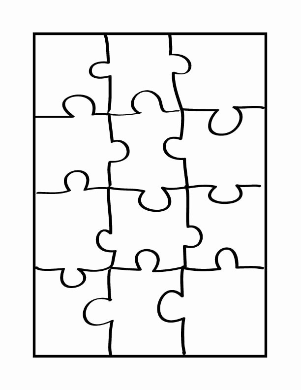 Puzzle Piece Cut Outs Awesome Puzzle Template 6 Pieces Clipart Best