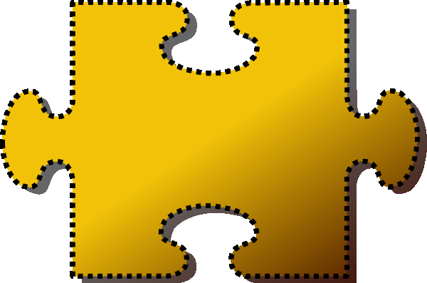 Puzzle Piece Cut Outs Beautiful Jigsaw Yellow Puzzle Piece Cutout Clip Art at Clker