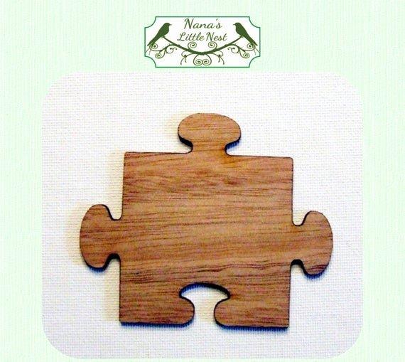 Puzzle Piece Cut Outs Beautiful Puzzle Piece Wood Cut Out Laser Cut