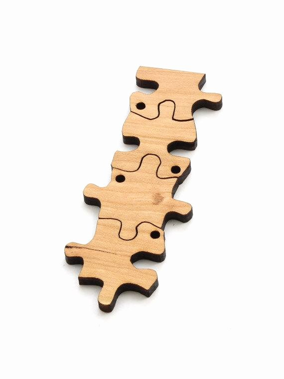 Puzzle Piece Cut Outs Best Of Puzzle Piece Beads 1 3 8 Laser Cut Wood Etsy Itsies