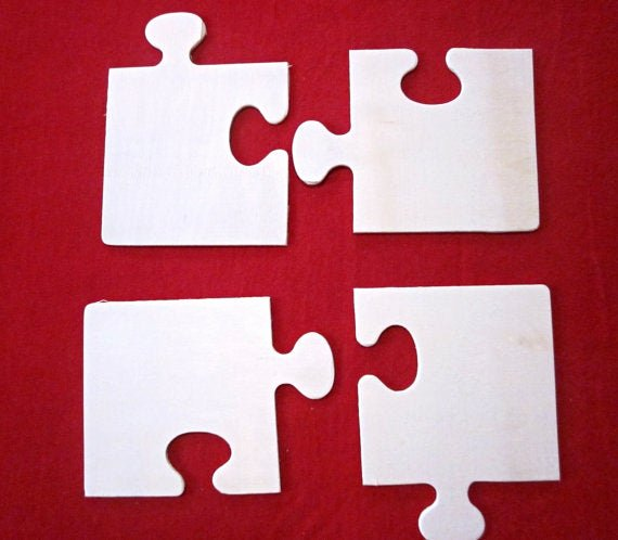Puzzle Piece Cut Outs Elegant Items Similar to 8 Unfinished Wooden Cut Out Puzzle Shape