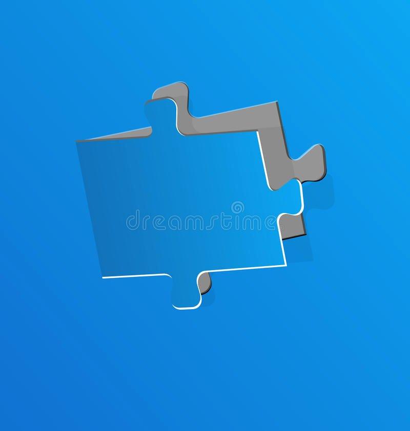 Puzzle Piece Cut Outs Fresh Cut Out Puzzle Piece Blue Paper Stock Vector