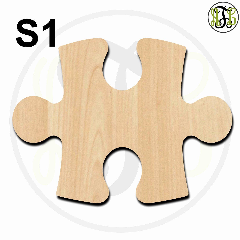 Puzzle Piece Cut Outs Fresh Plaque Puzzle Piece Style 1 or 2 S1 S2 Cutout