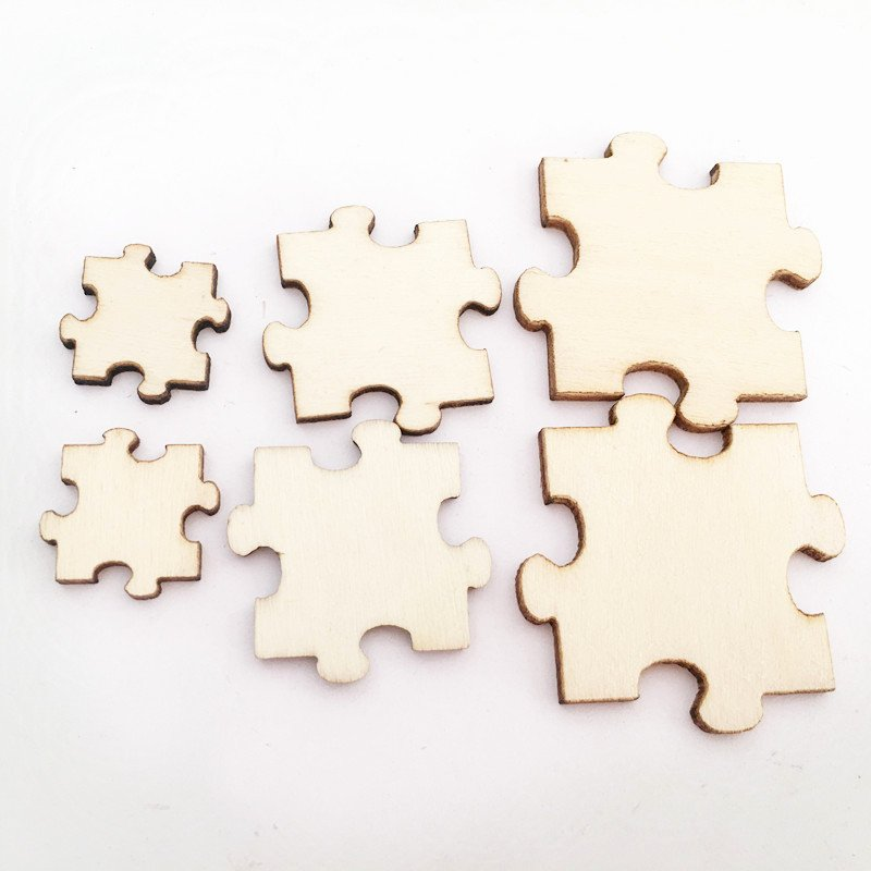 Puzzle Piece Cut Outs Luxury 50pcs Unfinished Wood Puzzle Laser Cut Out Natural Wood