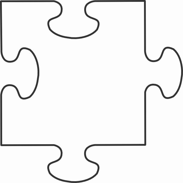 Puzzle Piece Cut Outs Luxury Puzzle Piece Template