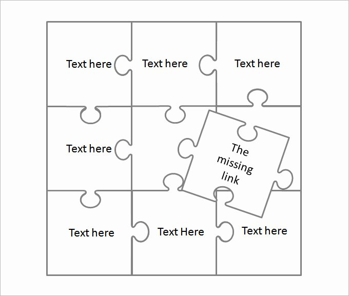Puzzle Pieces Template for Word Best Of Puzzle Piece Template