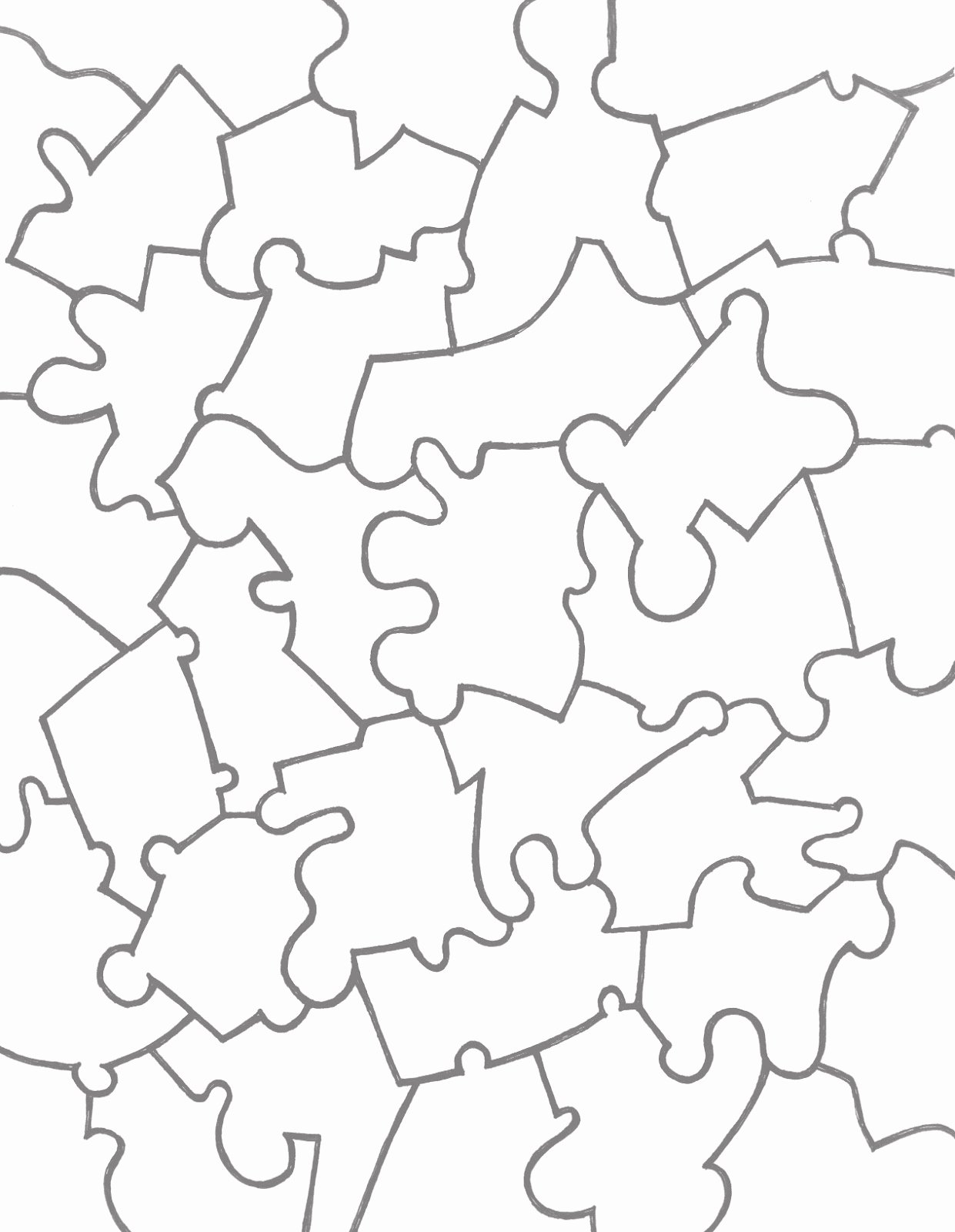 Puzzle Pieces Template for Word Lovely Paper Jigsaw Puzzle Templates