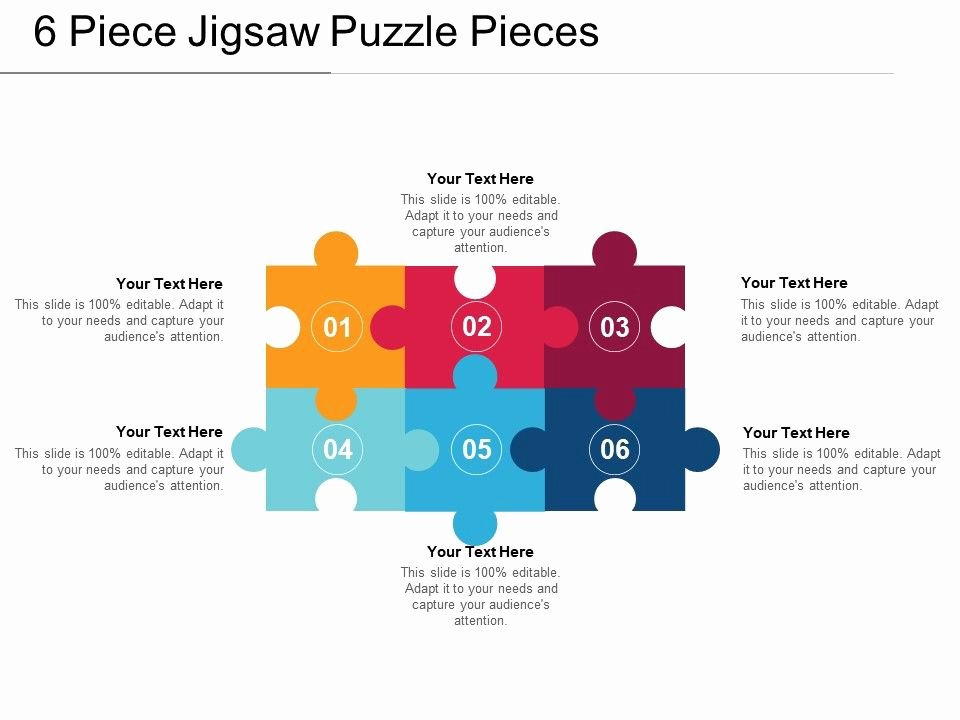 Puzzle Pieces Template for Word Luxury 6 Piece Jigsaw Puzzle Pieces