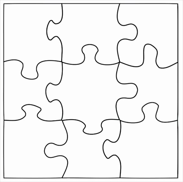 Puzzle Pieces Template for Word New Blank Puzzle Template Driverlayer Search Engine